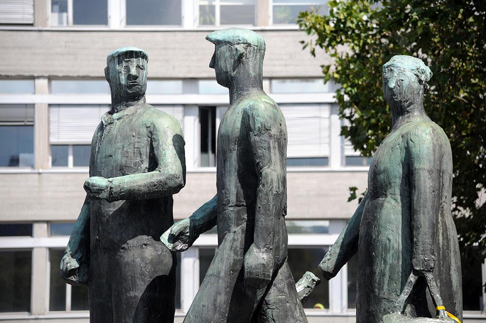 arbeiter statuen in zürich