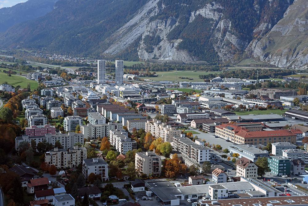 tolles panorama über die stadt